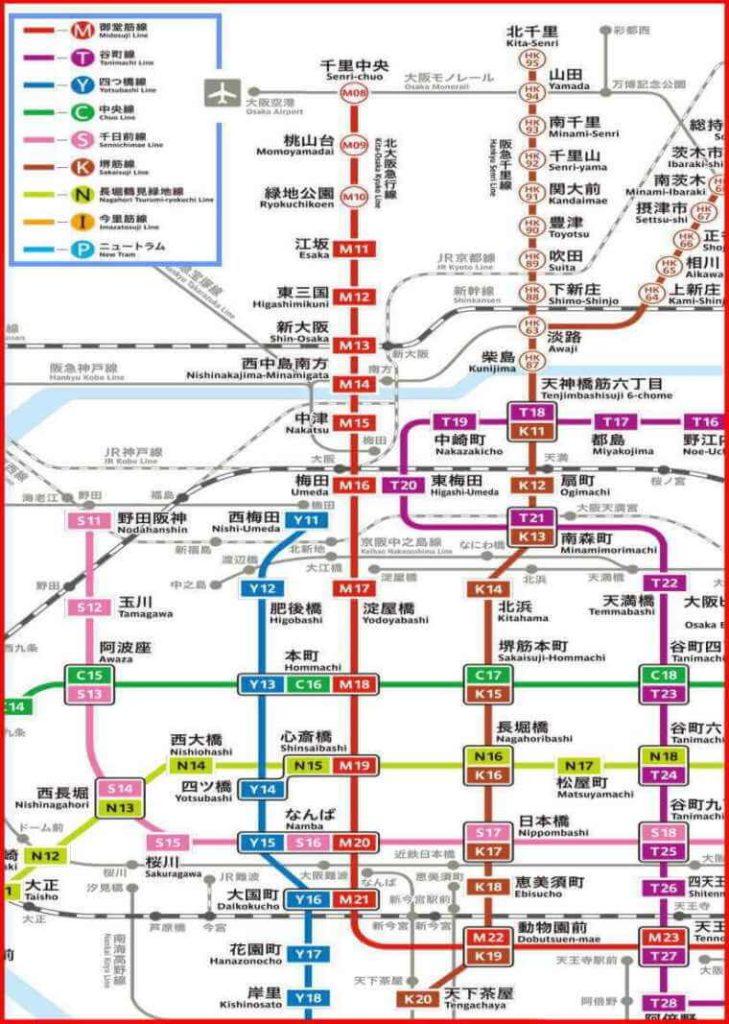 大阪 路線図